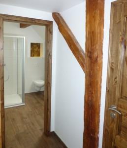 Badezimmer neu im Gruppenhaus am See Brandenburg