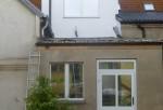 Der Anbau noch mit Dach