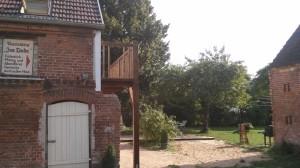Balkon-Räucherhäuschen-Bauernhof