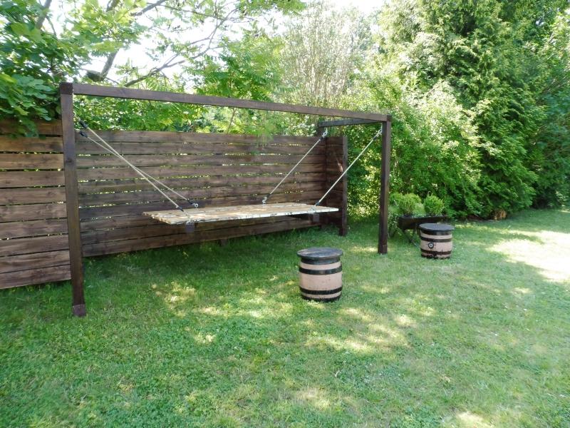 Im Zaun integriertes Himmelbett Hochzeitsfeier