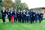 Bräutigam, Trauzeugen und Gäste