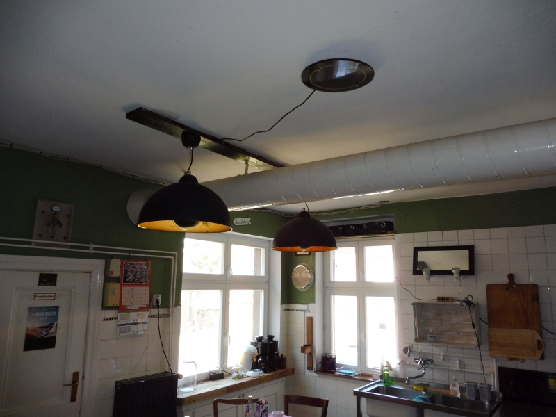 Neues Lampenarrangement in der Küche