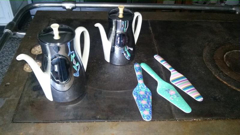 Neue vintage Kaffeekannen
