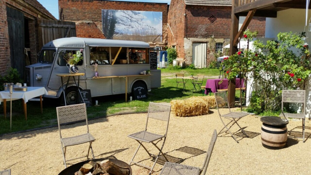 Mobile Kaffeebar im Bauernhof