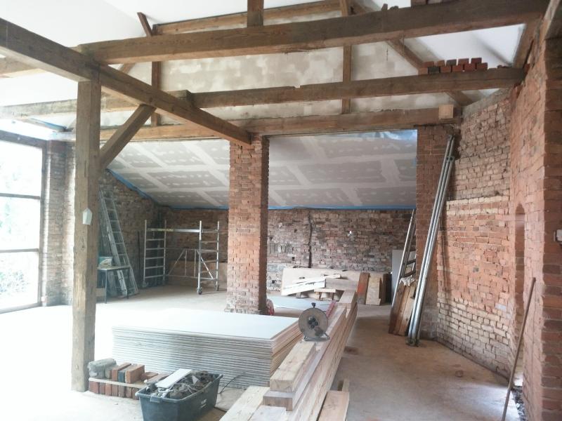Bauphase Scheune Innen