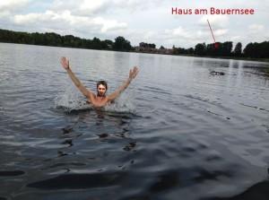 Schwimmen im Bauernsee mit Ian T