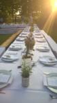 Tafel im Garten Abendsonne