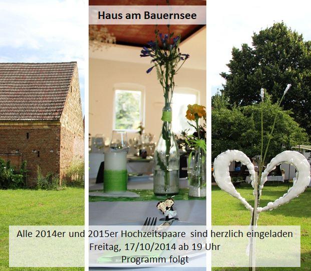 Haus Am Bauernsee: Hochzeit-Erfahrungsaustausch