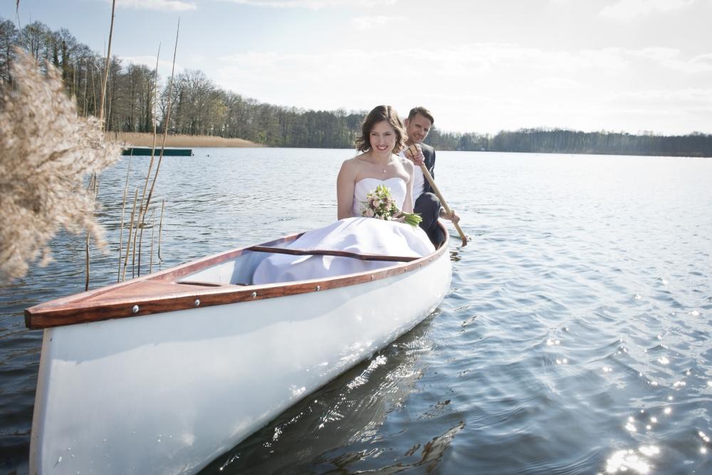 Rudern-Hochzeitspaar