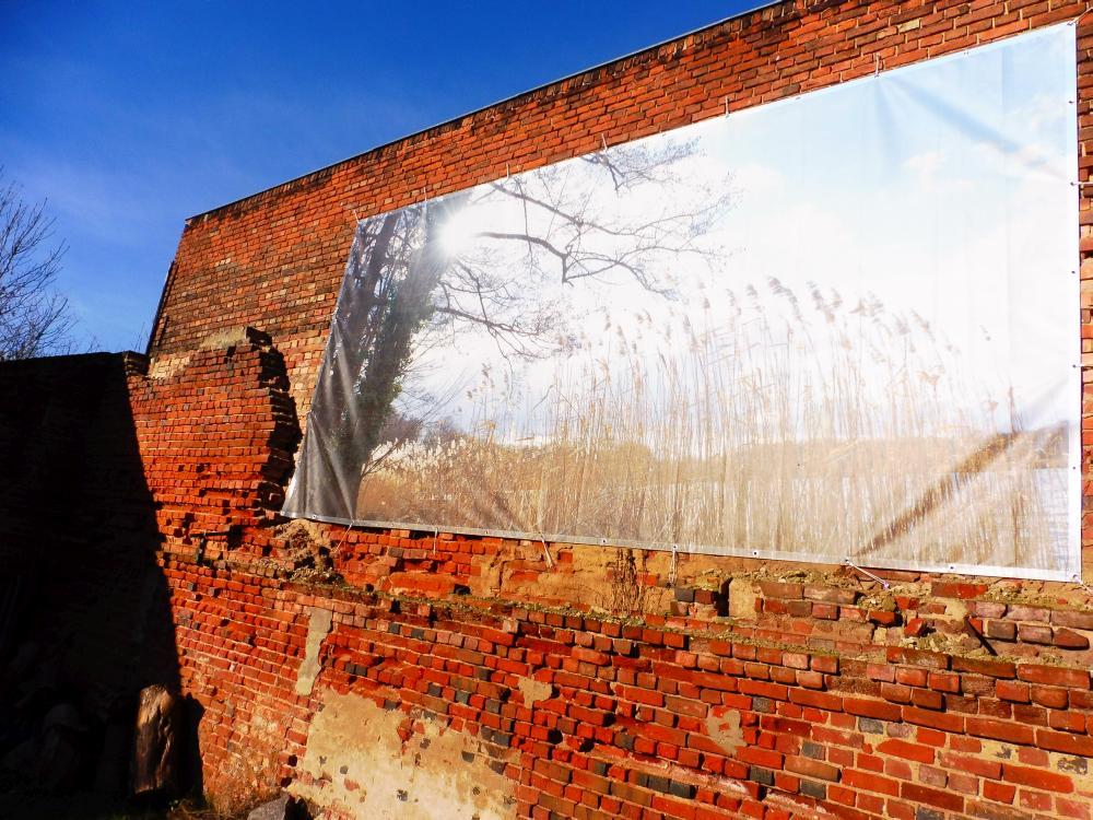 Wand im ehemaligen Vierseithof
