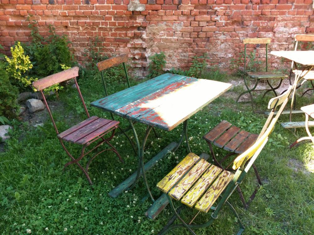 Biergarten am See Tische Vintage Brandenburg