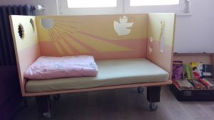Kinderbett im Haus am Bauernsee Hochzeiten