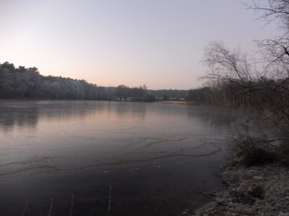 Der Glienicksee im Winter