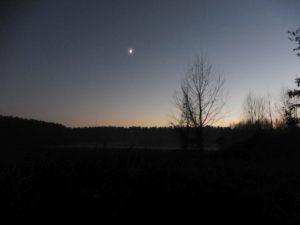 Blick zurück zum Camp Dobbrikow im Winter