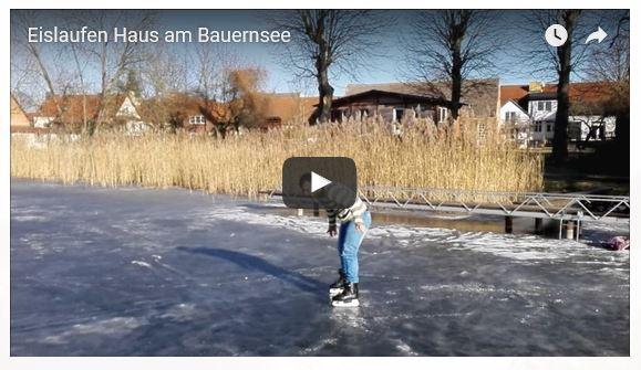 Eislaufen auf dem Bauernsee