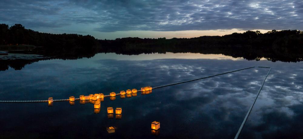 Lichter auf dem Bauernsee