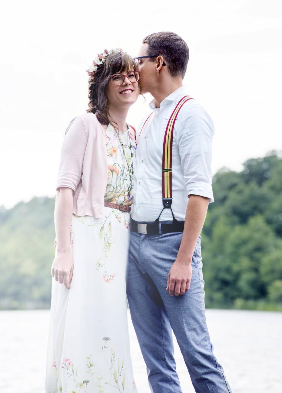 Paar am Steg des Bauernsees