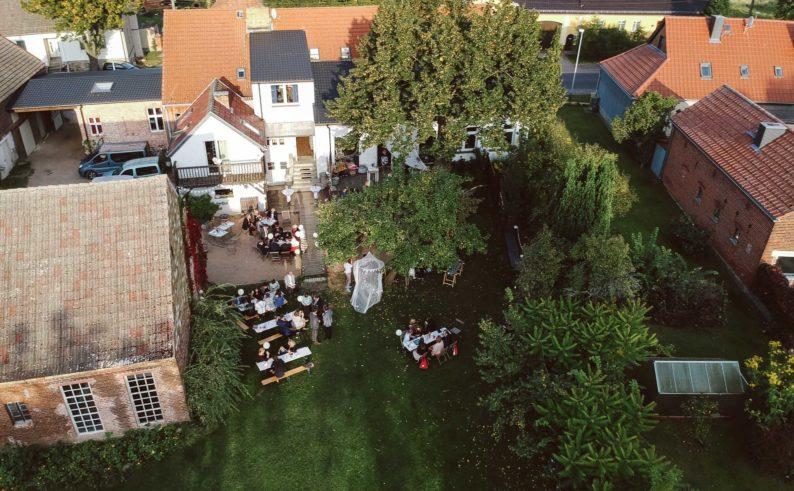 Haus am Bauernsee Garten Lufbild
