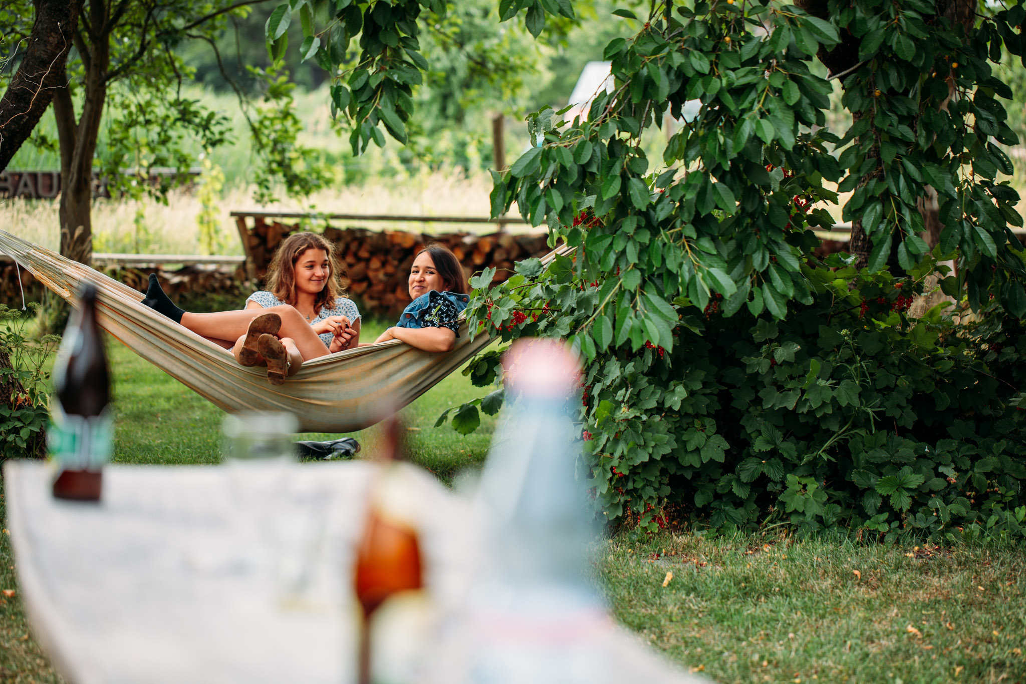 Familienhochzeit im Garten
